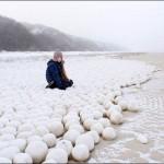 bola-bola salju alami di Teluk Ob (The Siberian Times)