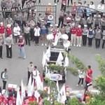DEMO SEMARANG : Demi UMK 2017, Demo Buruh Rela Basah-Basahan