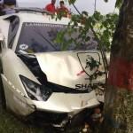Lamborghini Raffi Ahmad Tabrak Pohon