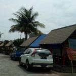 Gazebo di pinggir Kali Pepe Kampung Limolasan, Sudiroprajan, Jebres, dijadikan tempat berjualan pedagang kaki lima (PKL). Foto diambil Senin (21/11/2016). (Muhammad Ismail/JIBI/Solopos)