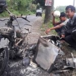 KEBAKARAN BOYOLALI: Gerobak dan Sepeda Motor Pedagang Siomay Ludes Terbakar