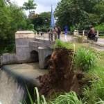 INFRASTRUKTUR SUKOHARJO : Talut Ambrol, Jalan Antarkabupaten di Mojolaban Terancam Putus