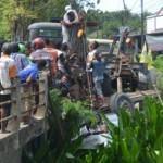 KECELAKAAN SUKOHARJO : Hindari Motor, Truk Masuk ke Sungai