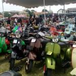 Ribuan Penggemar Vespa Seluruh Indonesia Kumpul di Solo