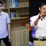 Huang Jian (kiri) ingin memiliki wajah mirip Jack Ma (kanan) (Vulcanpost & People China)