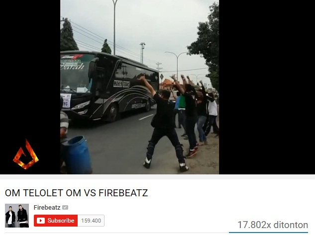 "Video musik racikan DJ Firebeatz ""Om Telolet Om vs Firebeatz"". (Istimewa/Youtube)"