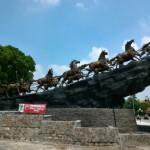 Patung Arjuna berdiri megah di Simpang Lima, Boyolali Kota, Senin (11/1/2016). (JIBI/Solopos/Dok)