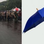Dikira Nyindir, Ternyata Ini Alasan Jokowi Pakai Payung Biru Saat Aksi 212