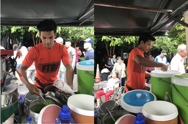 Penjual cendol tampan asal Malaysia (Twitter @leeyaamir_)