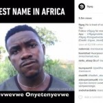 Pria pemilik nama tersulit untuk diucapkan di Afrika (Instagram @9gag)