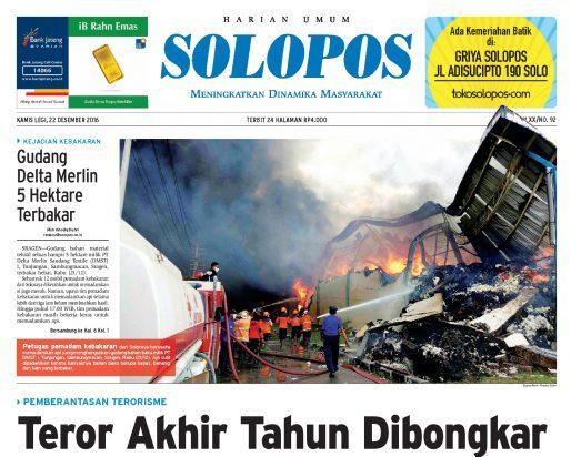 Solopos Hari Ini Kamis (22/12/2016)