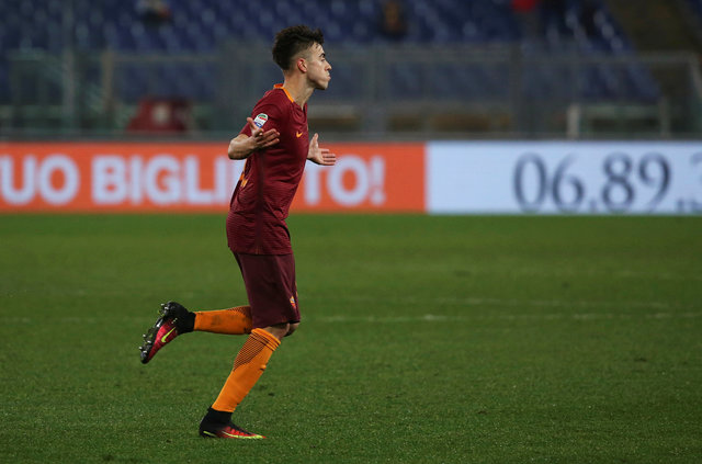 Pemain AS Roma, Stephan El Shaarawy. (REUTERS/Alessandro Bianchi)