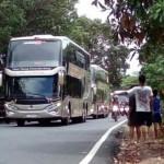 TRANSPORTASI WONOGIRI : Bus Tingkat Berfasilitas Mewah Layani Penumpang Wonogiri-Jakarta