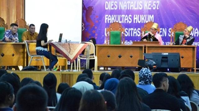 Acara puncak Dies Natalis ke-57 FH UKSW di balairung kampus setempat, Jl. Diponegoro, Kota Salatiga, Jateng, Senin (5/12/2016). (Uksw.edu)