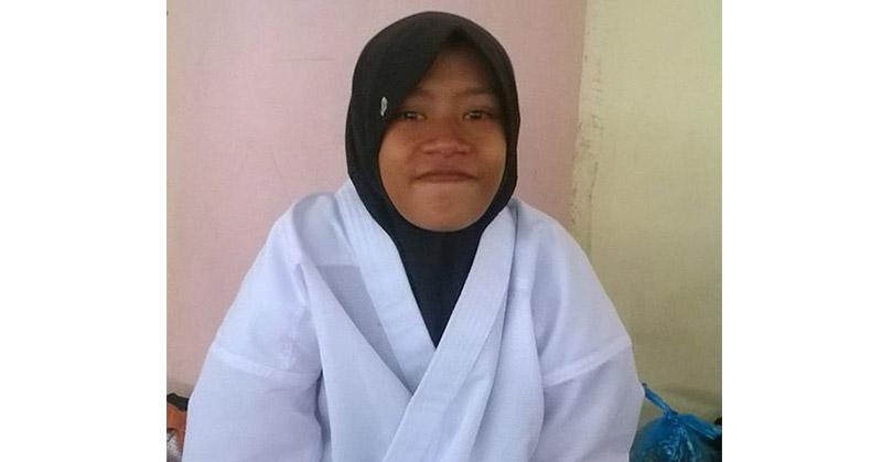 Gadis karateka yang diketahui bernama Aulia. (Istimewa/Facebook)