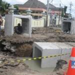INFRASTRUKTUR SUKOHARJO : Antisipasi Banjir, Drainase Dekat Rumdin Bupati Diperbaiki