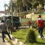 KECELAKAAN BOYOLALI : Bus Undip Terperosok ke Taman Depan Terminal Sunggingan