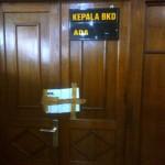 Ruang kerja Kepala BKD Klaten disegel KPK setelah Bupati Klaten Sri Hartini ditangkap, Jumat (30/12/2016). (Taufiq Sidik Prakoso/JIBI/Solopos)