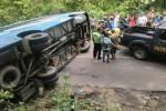 KECELAKAAN BANTUL : Tak Kuat Menanjak, Bus Pariwisata Terguling