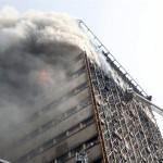 Gedung Pencakar Langit Tertua di Iran Ambruk Setelah Terbakar