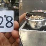 Nomor antrian (kiri) dan Siomay Mas Gepeng (Facebook)