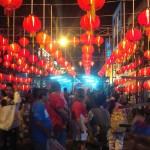 Puluhan lampion menghiasi area Pasar Imlek Semawis  di kawasan Pecinan, Semarang, Senin (24/1/2017). (Imam Yuda Saputra/JIBI/Semarangpos.com)