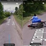 Perempuan terekam Google Street View saat jatuh dari motor (1cak.com)