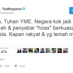 """Kicauan SBY Soal """"Hoax"""" Dinilai Sebagai Perang Kata-Kata"""