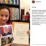 Surat Obama untuk anak Indonesia (Instagram)