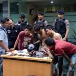 Satuan Reserse Polresta Solo mengungkap empat penjambret yang ditangkap, Selasa (24/1/2017). (Muhammad Ismail/JIBI/Solopos)