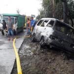 KEBAKARAN BOYOLALI : Mobil Pengangkut 300 Liter Pertalite Terbakar di Pusporenggo