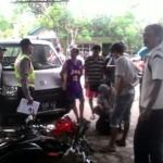 Anggota Polsek Baturetno melakukan olah TKP kecelakaan di Dusun Watu Agung RT 003/RW 002, Watuagung, Baturetno, Wonogiri, Senin (23/1/2017). (JIBI/Solopos/Istimewa)