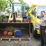 TAMBANG ILEGAL SLEMAN : Polsek Pakem Sita Truk dan Alat Berat di Kali Boyong