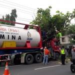 KECELAKAAN BOYOLALI : Truk Elpiji Tertimpa Pohon di Jl. Perintis Kemerdekaan