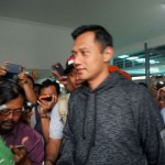 Agus Harimurti Yudhoyono (AHY_ begitu tiba di Stasiun Balapan Solo, Sabtu (18/2/2017). (Mahardini Na/JIBI/Solopos)