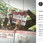 PILKADA JAKARTA : Tutupi Gambar Ahok-Djarot, Ahmad Dhani Dibully Netizen