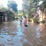 Banjir di Nusupan, Kadokan,Grogol, Sukoharjo, Rabu (15/2/2017). (M Ferri Setiawan/JIBI/Solopos)