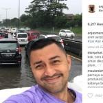 INSTAGRAM ARTIS : Selfie di Tengah Banjir, Wajah Tampan Anjasmara Ramai Dibahas
