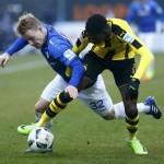 Ousmane Dembele (kanan) saat memperkuat Borussia Dortmund melawan SV Darmstadt 98. (JIBI/REUTERS/Ralph Orlowski)