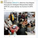 DEMO AHOK : DPR Terima Perwakilan Demonstran, #Aksi212 Sempat Trending Topic