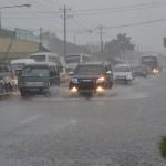 Air Genangi Jalan Raya Telukan Sukoharjo, Simpang Empat Jl. Ciu Macet