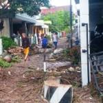 Perumahan Wahyu Utomo, Bringin, Ngaliyan, Kota Semarang, Jateng dilanda banjir, Senin (6/2/2017) malam. (Facebook.com-Istanti Ardianingrum)