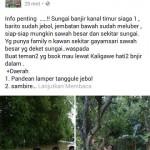 BANJIR SEMARANG : Semarang Banjir, Hoax Merebak di MIK Semar