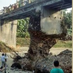 Kondisi memprihatinkan jembatan di Desa Karanglangu, Kecamatan Kedungjati, Kabupaten Grobogan, Jateng. (Facebook.com-Biyantoro Accskin)
