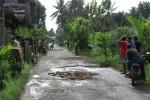 INFRASTRUKTUR BANTUL : Jalan Rusak, Warga Swadaya Bergerak