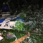 Puing-puing bekas tenda dan musala pejuangan warga Rembang penolak pabrik semen yang dibakar sejumlah orang, Jumat (10/2/2017) malam WIB. (JIBI/Semarangpos.com/Istimewa-JMPPK)