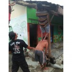 BENCANA BOYOLALI : Diterjang Lisus, Atap TK Pertiwi Desa Dibal Terancam Ambrol