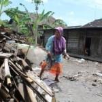 KISAH TRAGIS : Rumah Nenek Hidupi 3 Cucu di Klaten Kini Tak Lagi Punya Rumah