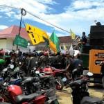 DEMO NGAWI : Jalan Rusak akibat Proyek Tol, Warga Tuntut PT Waskita Karya Bertanggung Jawab