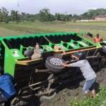 KECELAKAAN SUKOHARJO : Ini Penyebab Kereta Kelinci Rombongan SDN Gandekan Terperosok ke Sawah